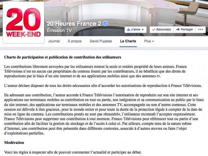 Charte de modération France 2
