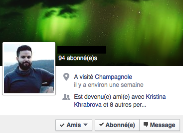 Survol Profil Facebook