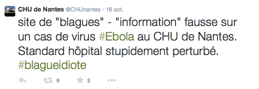 CHU Nantes Tweet