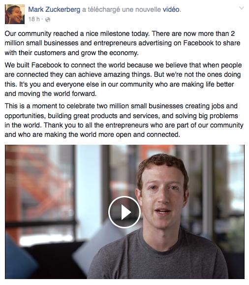 2 millions Facebook