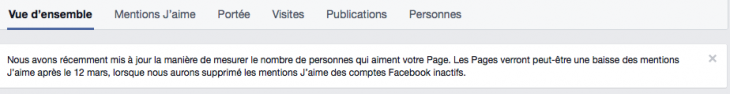 Comptes inactifs Facebook
