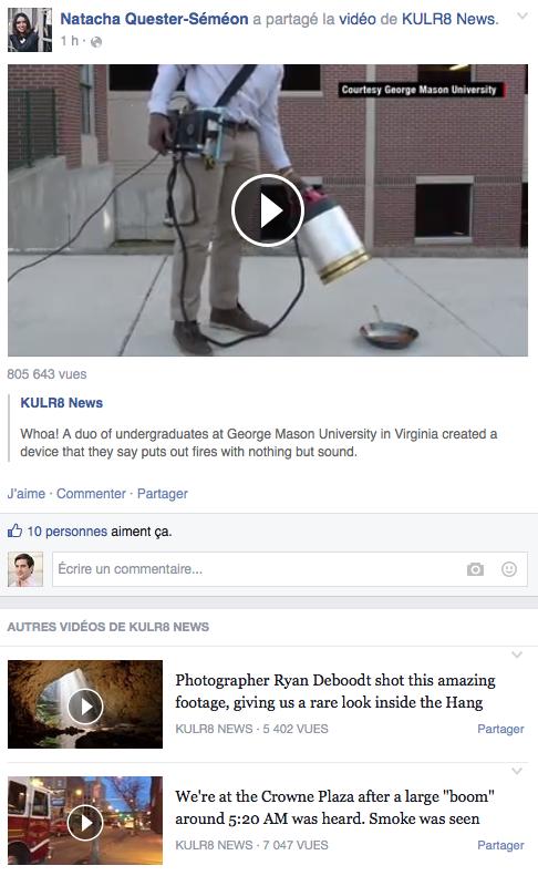 Facebook - video en continu - Formation reseaux sociaux