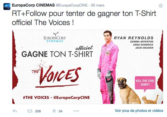Jeu-concours Europacorp Twitter - Formation reseaux sociaux