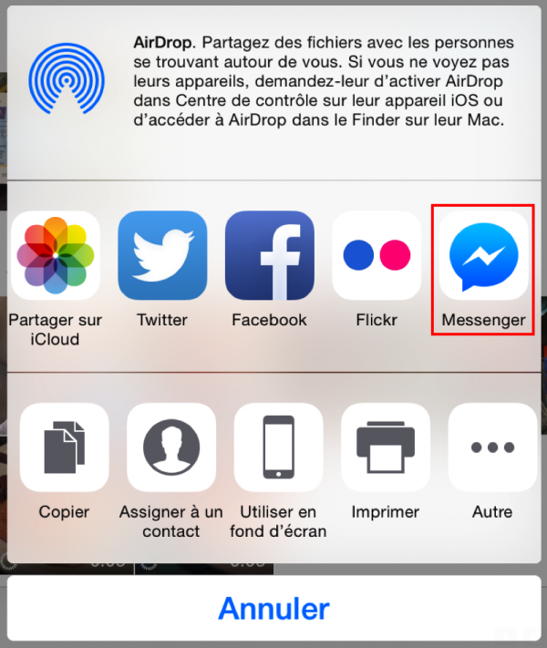 Partage Messenger - Formation reseaux sociaux