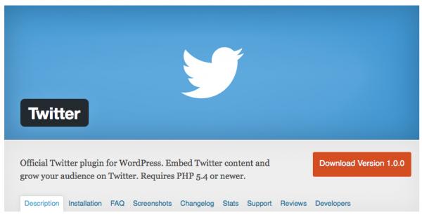 Plugin WordPress Twitter - Formation reseaux sociaux
