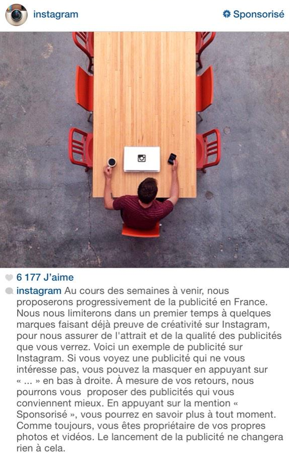 Publicite Instagram - Formation Community Manager