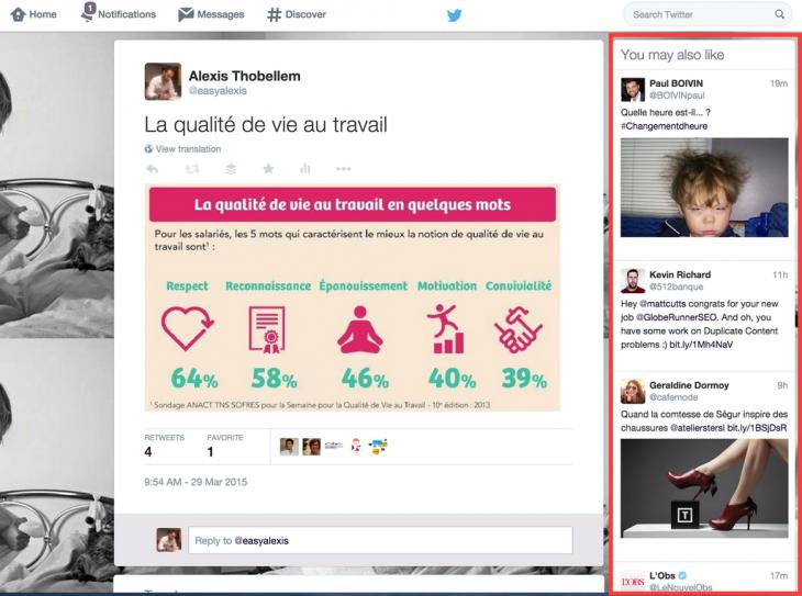 Tweets similaires - Formation reseaux sociaux