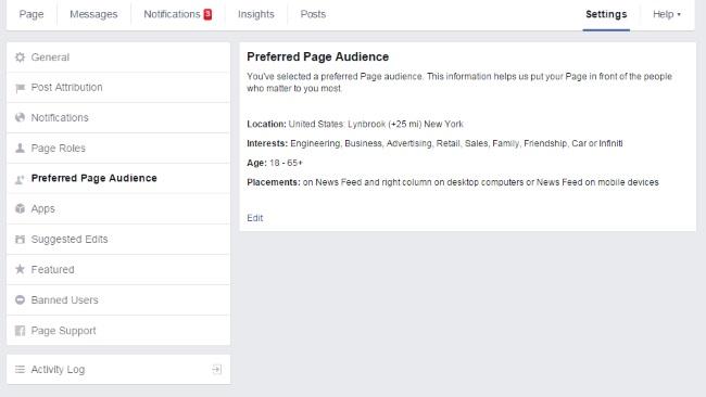 Audiences preferees - Facebook - Formation reseaux sociaux