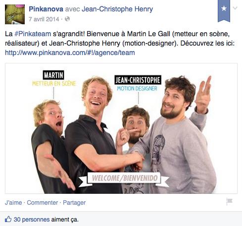 Nouvel employe - Pinkanova - Facebook