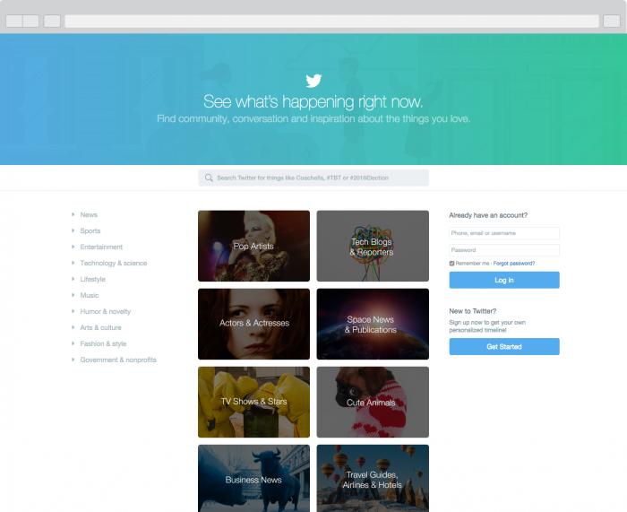 Page Accueil Twitter - Formation reseaux sociaux