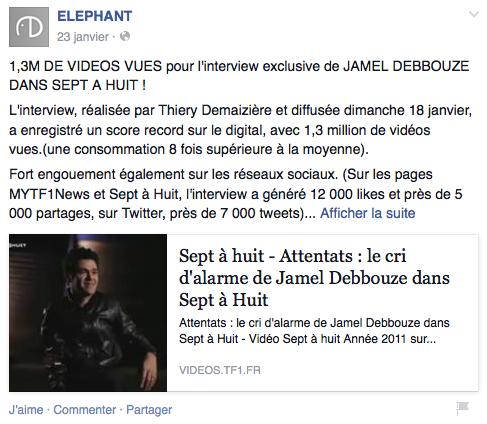 Performances - Facebook Elephant - Formation reseaux sociaux