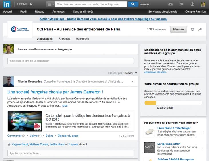 LinkedIn CCI Paris